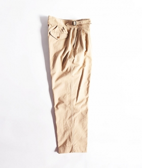 KABEL (カベル) SELVAGE COTTON TWILL GURKHA PANTS【MENS】