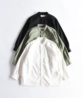 Breechez (ブリーチェズ) BAND COLLAR OVER SHIRTS JACKET【MENS】