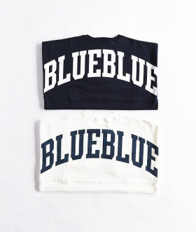 RUSSELL×BLUE BLUE(ラッセル×ブルーブルー) BIG LOGO S/S FOOTBALL T-SHIRTS【MENS】