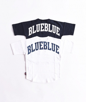 RUSSELL×BLUE BLUE(ラッセル×ブルーブルー) KIDS BIG LOGO S/S FOOTBALL T-SHIRTS【KIDS】