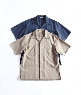KABEL (カベル) HIGH DENSITY TROPICAL OPEN COLLAR SHIRT【MENS】