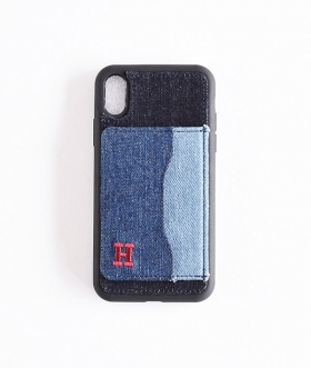 H.R.REMAKE(エイチアールリメイク) I Phone XR DENIM PATCH STAND CASE【MENS&WOMENS】