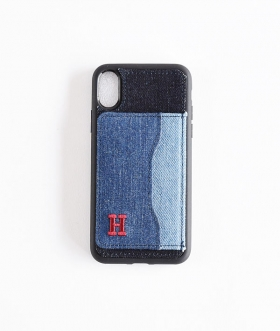 H.R.REMAKE(エイチアールリメイク) I Phone X XS DENIM PATCH STAND CASE【MENS&WOMENS】