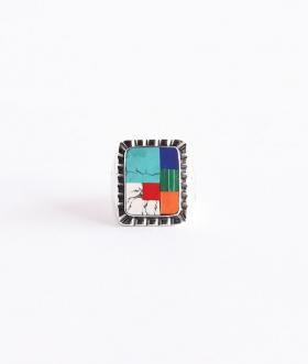 HOLLYWOOD RANCH MARKET(ハリウッドランチマーケット) COLORFUL STONE MEXICAN RING【MENS】