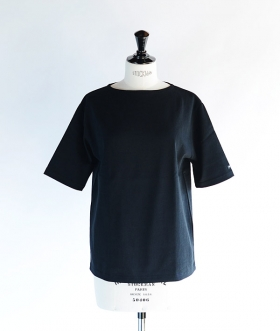SAINT JAMES (セントジェームス) OUESSANT SHORT SLEEVE SHIRTS ブラック【MENS&WOMENS】