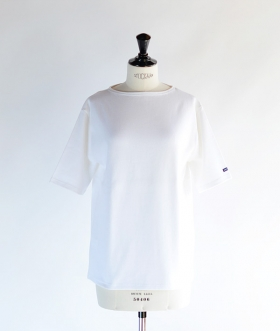 SAINT JAMES (セントジェームス) OUESSANT SHORT SLEEVE SHIRTS ホワイト【MENS&WOMENS】