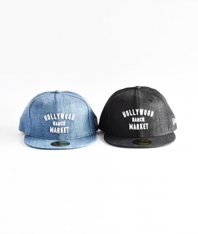 NEW ERA×HOLLYWOOD RANCH MARKET (ニューエラ×ハリウッドランチマーケット) HR MARKET DENIM BASEBALL CAP【MENS&WOMENS】