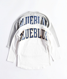 RUSSELL×BLUE BLUE(ラッセル×ブルーブルー) BIG LOGO FOOTBALL T-SHIRTS【MENS】