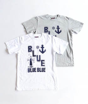 BLUE BLUE(ブルーブルー)  LIGHT HOUSE BLUE Tシャツ【MENS】