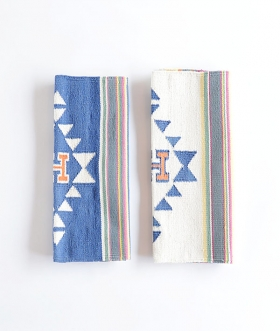 HOLLYWOOD RANCH MARKET (ハリウッドランチマーケット) H TRIBAL PATTERN MULTI STRIPE MAT【MENS&WOMENS】