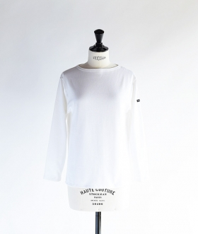 SAINT JAMES (セントジェームス) OUESSANT SOLID ホワイト【MENS&WOMENS】