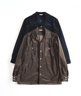 KABEL (カベル) VELVET OPEN COLLAR SHIRT【MENS】