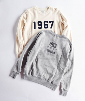 J.PRESS×BLUE BLUE(ジェイプレス×ブルーブルー) 1967 CREWNECK SWEAT【MENS】