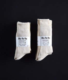 ROTOTO (ロトト) ORGANIC COTTON DAILY 3 PACK SOCKS【MENS&WOMENS】