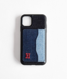 H.R.REMAKE(エイチアールリメイク) iPhone11 DENIM PATCH STAND CASE【MENS&WOMENS】
