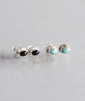 HOLLYWOOD RANCH MARKET(ハリウッドランチマーケット) OVAL STONE PIERCE【MENS&WOMENS】