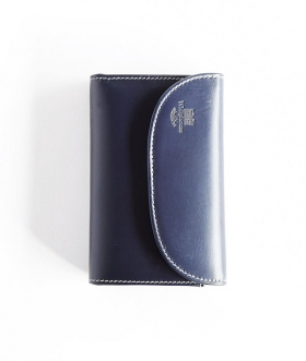 Whitehouse Cox (ホワイトハウスコックス) S7660 3FOLD WALLET ホリデーライン NAVY×ESPRESSO【MENS&WOMENS】
