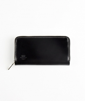 Whitehouse Cox (ホワイトハウスコックス) S2622 LONG ZIP WALLET ホリデーライン BLACK×PURPLE 【MENS&WOMENS】