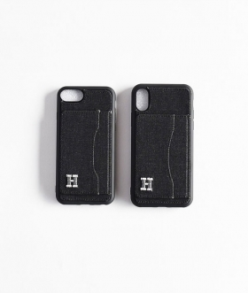H.R.REMAKE(エイチアールリメイク) I Phone BLACK DENIM STAND CASE【MENS&WOMENS】