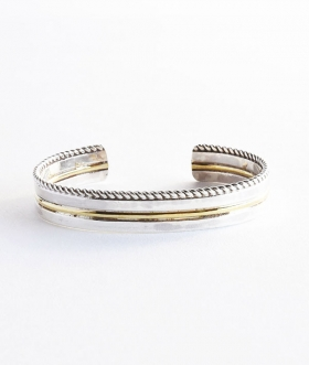 HOLLYWOOD RANCH MARKET(ハリウッドランチマーケット) BRASS LINE BANGLE【MENS】