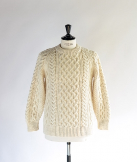 INVERALLAN(インバーアラン) 1A CREW-NECK KNIT Natural【MENS&WOMENS】