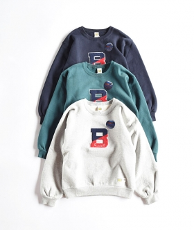 RUSSELL×BLUE BLUE(ラッセル×ブルーブルー) SWEAT COLLEGE WOMENS CREW NECK【WOMENS】